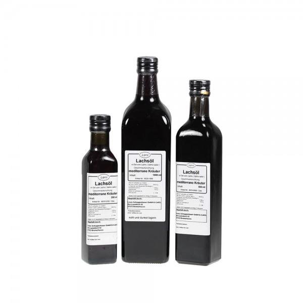 LIPRO - Lachsoel Mediterrane Kräuter - Glasflasche