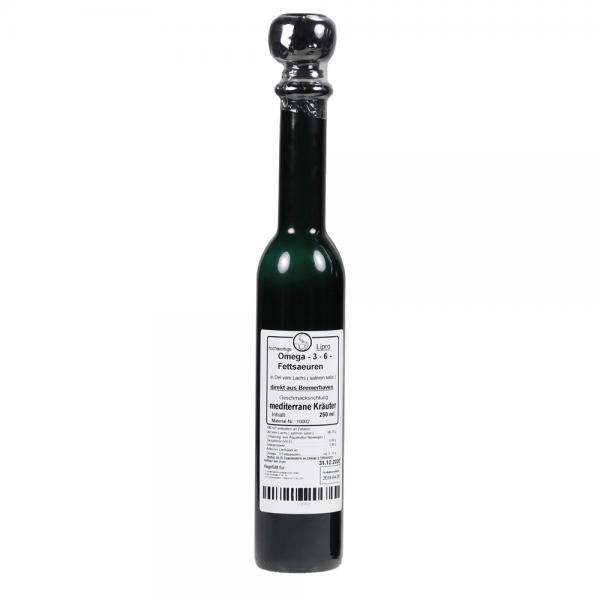 Lachsoel Mediterrane Kräuter - Schmuck-Flasche