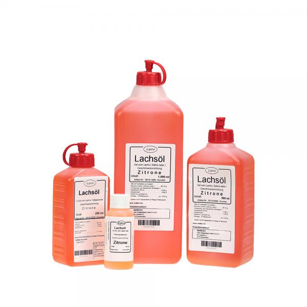 LIPRO - Lachsoel mit Zitronen-Geschmack - Kunststoff-Flasche
