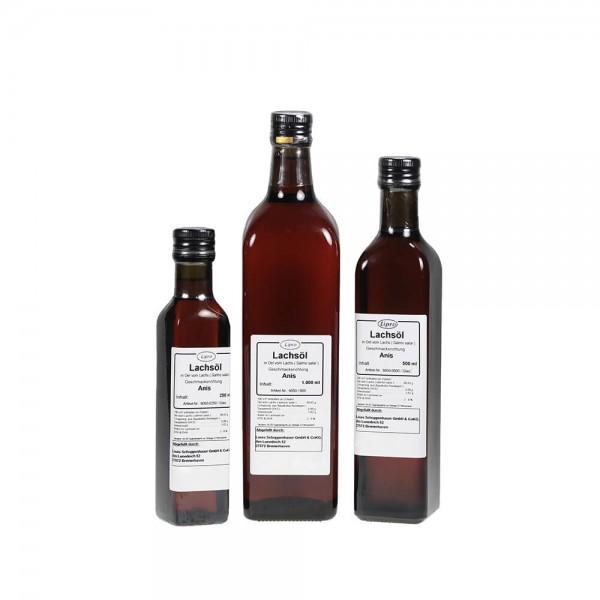 LIPRO - Lachsoel mit Anis-Geschmack - Glasflasche