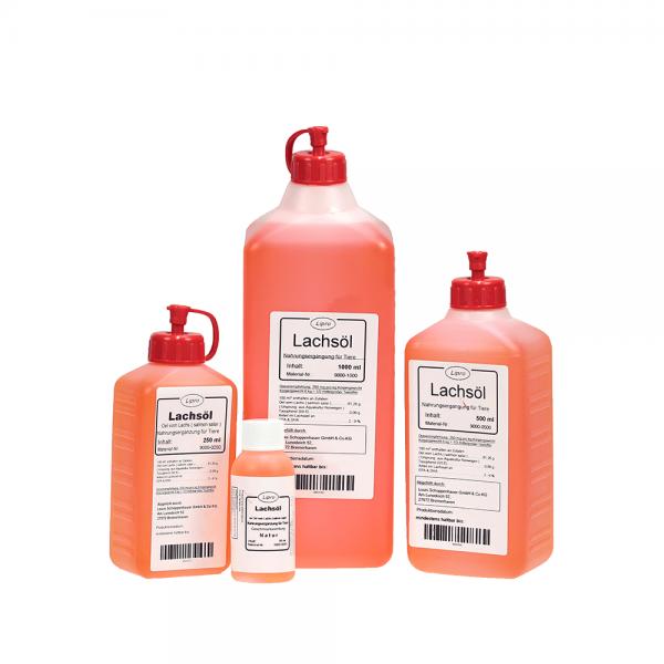 LIPRO - Lachsoel Natur für Tiere - Kunststoff-Flasche
